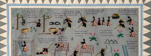 detail of a Hmong storytelling textile