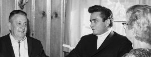 Johnny Cash with his parents