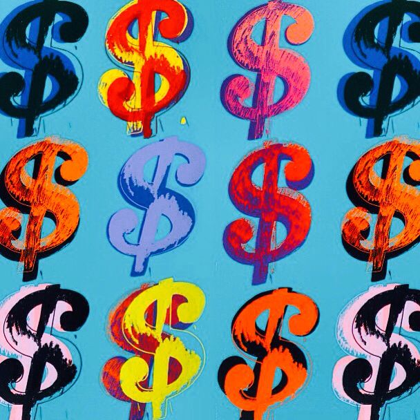 Andy Warhol Dollar Sign